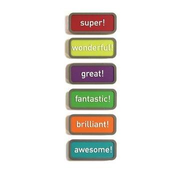 Motivatie magneten Expression - set van 6 magneten met een uitdrukking