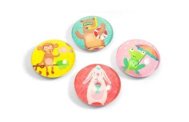 Glazen magneten Eye - Party Animal - set van 4 glazen magneten