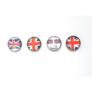 Union Jack magneten van glas - set van 4 stuks