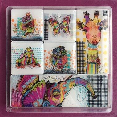 Leuke Animal magneten - set van 7 stuks