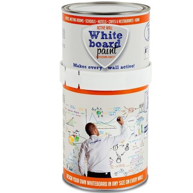 Whiteboardverf 1,0 ltr wit glanzend