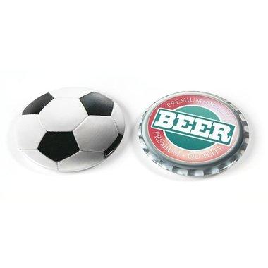 flesopeners met magneet - Bier en Voetbal - set van 2 stuks