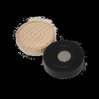 Leuke houten neodymium damsteen magneten - set van 6 stuks