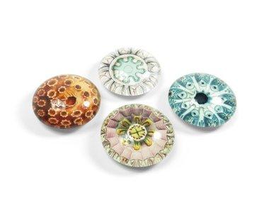 Glazen magneten Eye - Aquarius - set van 4 glazen magneten