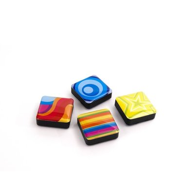 Magneet Icon Colors - set van 4 stuks