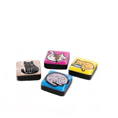 Magneet Icon Cats - set van 4 stuks