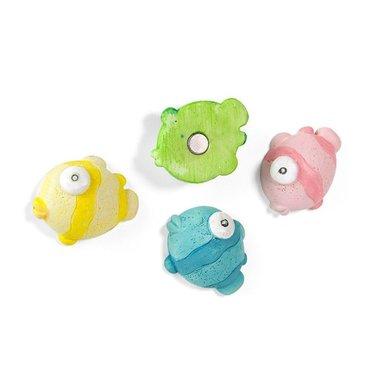 Kogelvis magneten - Blowfish - set van 4 sterke vissen magneten