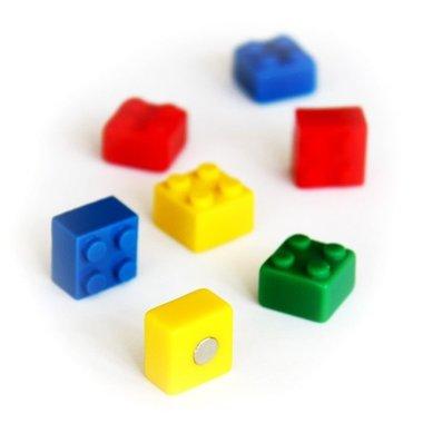 Magneet Brick - set van 4 bouwsteentjes