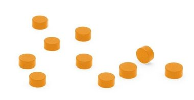 Magneet Steely - set van 10 oranje magneetjes