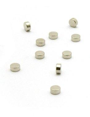 Zilverkleurige magneetjes Steely - set van 10 magneetjes - silver