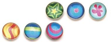 Magneet Argus - set van 6 gekleurde glazen magneten