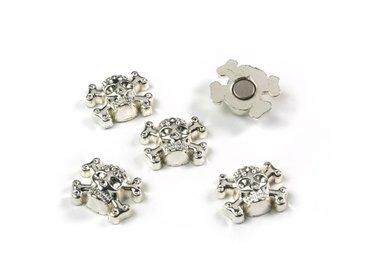 Doodshoofden magneetjes Skull - set van 5 magneten
