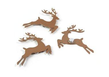 Herten magneten My Deer - set van 3 metalen herten