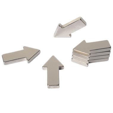 Zeer sterke neodymium pijl magneten - set van 8 stuks