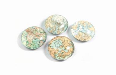 Glazen magneten Expedition - set van 4 stuks