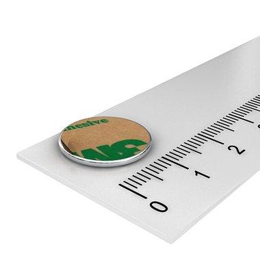 Metalen schijf 15 mm zelfklevend 3M als ondergrond voor magneten
