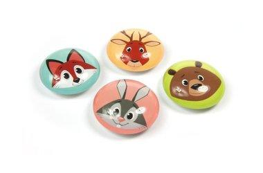 Magneet Eye - Funimal - set van 4 glazen magneten