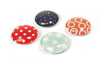 Magneet Eye - Fashion - set van 4 glazen magneten