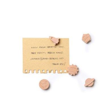 Galaxi Magneten - set van 5 stuks van hout gemaakt