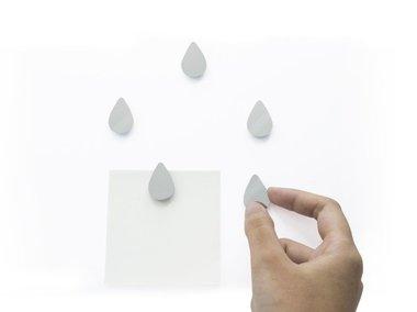 Come Rain Come Shine magneten - set van 5 leuke spiegel druppelmagneten
