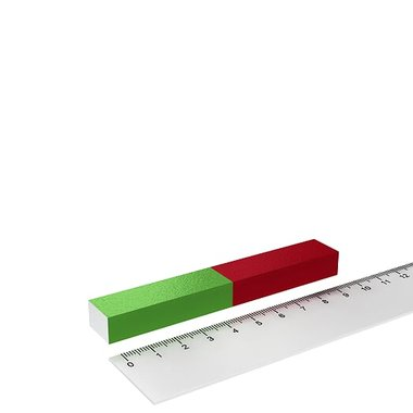 Staafmagneet rechthoekig voor educatie en experimenten 100x15x10 mm