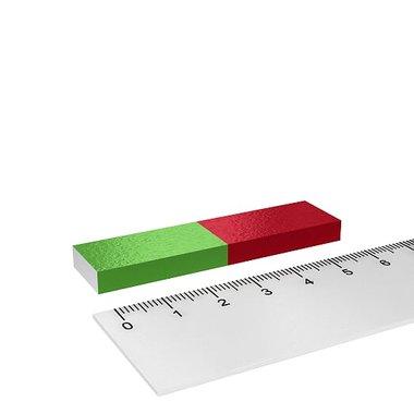 Korte staafmagneet rechthoekig voor educatie en experimenten 60x15x6 mm