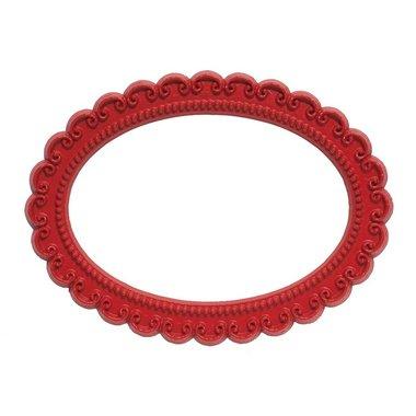 Magnetisch fotoframe kleur rood - ovaal