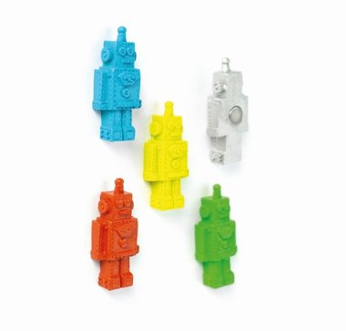 Leuke Robot magneten - set van 5 stuks