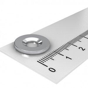 metaalondergrond 15 mm met gat