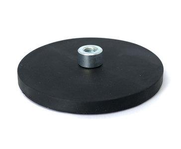 Rubber potmagneet neodymium draadbus 88 mm