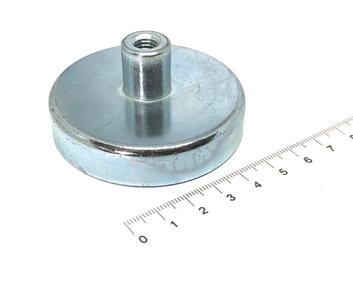 Keramische potmagneet 63 mm M8