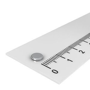 5x1 mm neodymium schijfmagneet