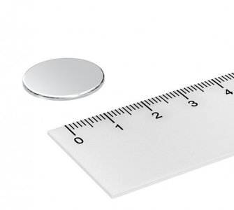 22x1 mm neodymium schijfmagneet