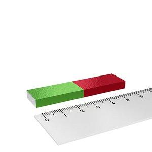 Korte staafmagneet rechthoekig 60x15x6 mm