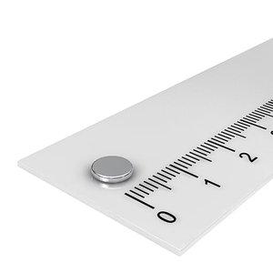 6x1 mm neodymium schijfmagneet