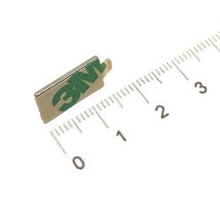 zelfklevende blokmagneet 15x8x1 neodymium