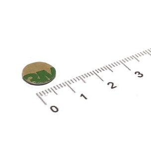 zelfklevende schijfmagneet 10x0,6 mm