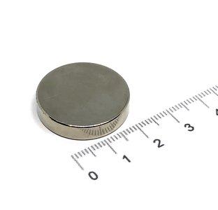 schijfmagneet 25x5 mm N35