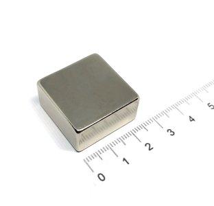blokmagneet neodymium 25,4x25,4x12,7 mm