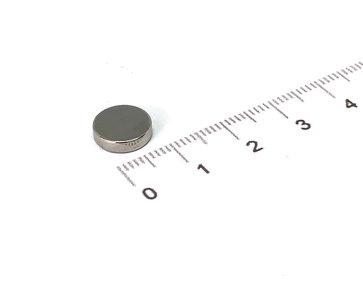 Neodymium schijfmagneet 10x2,5 mm N35