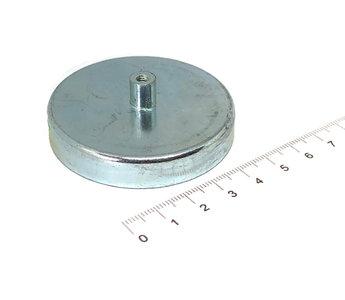 Ferriet potmagneet met draadbus 57 mm diam