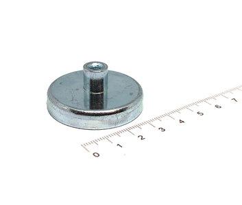 Ferriet pot magneet 40 mm M5