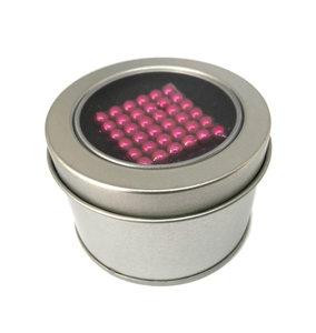 Kogel magneten roze 5 mm in geschenkset