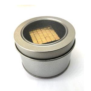 Kubus magneten 5 mm goud set