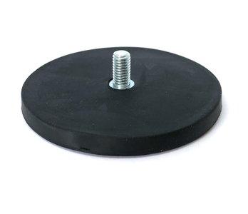 Rubber potmagneet draadstift M8 88 mm