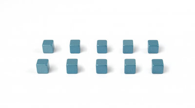 Kubus magneten blauw neodymium
