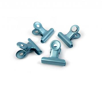 Graffa blauw metallic clip magneten