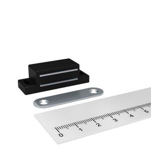 magneet snapper zwart 90 graden montage