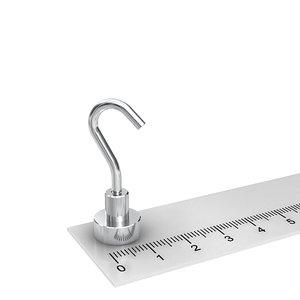 neodymium potmagneet met haak 12 mm