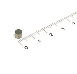 neodymium schijfmagneet 5x4 mm N35